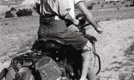 Georgia O'Keeffe hitching a ride to Abiquiu, Ghost Ranch, 1944