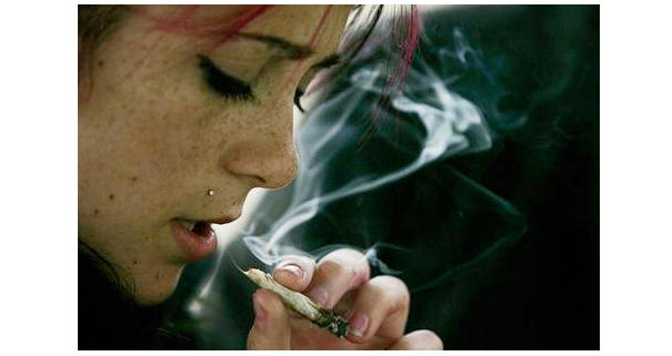 Weed Girl - marijuana-smoker