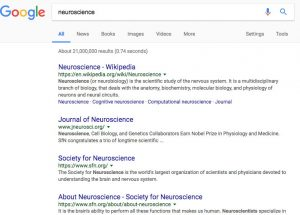 Google-SERP-neuroscience
